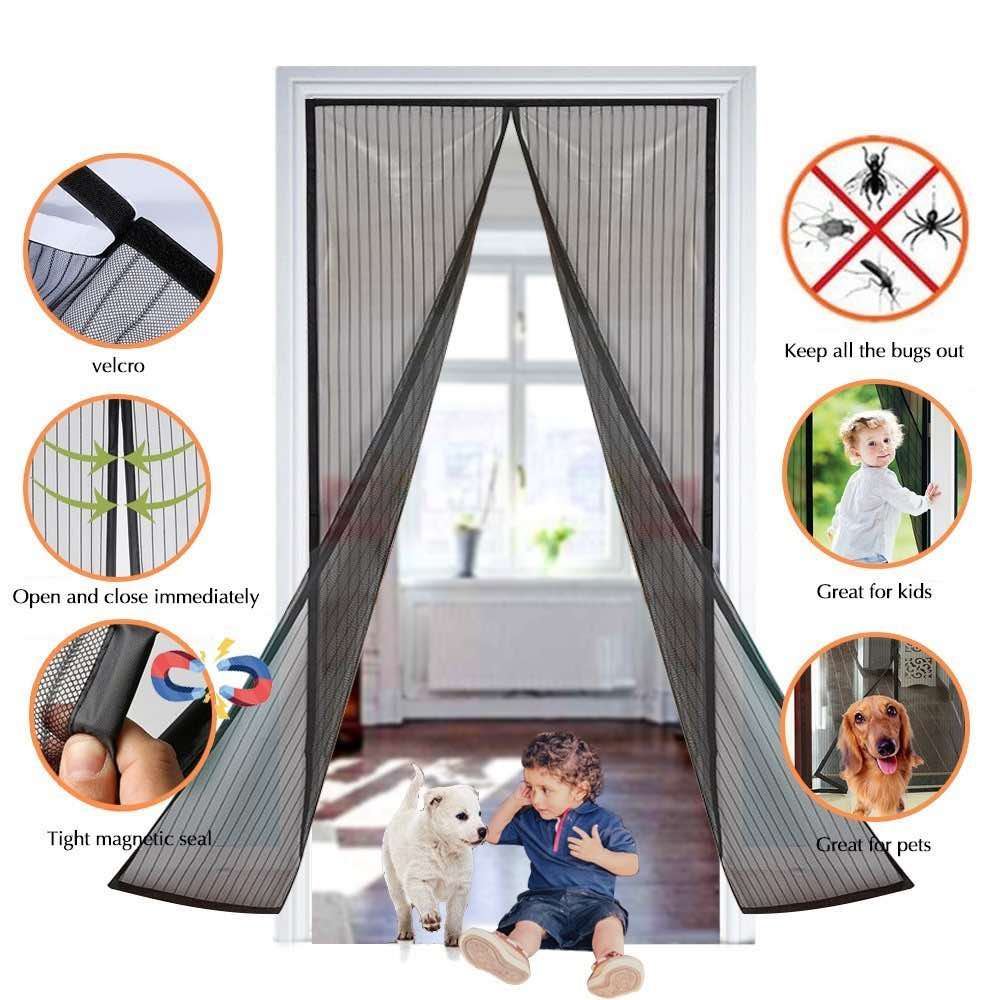 magnetic fly screen door curtain supplier